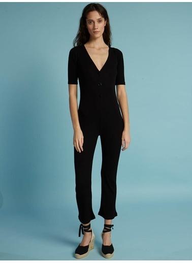 Faraway Cecilia Knit Jumpsuit Siyah